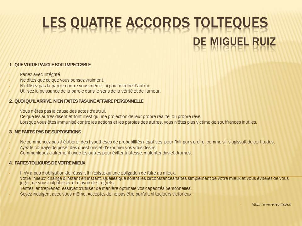 quatre accords tolteques